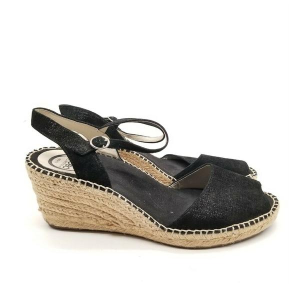 Abeo Shoes | Dahlia Black Wedge Dress